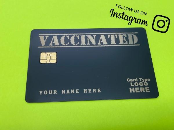 Vaccinated Card Design (matte-black)
