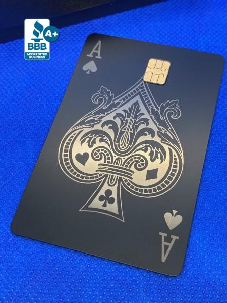 Ace of Spades Design (matte black)