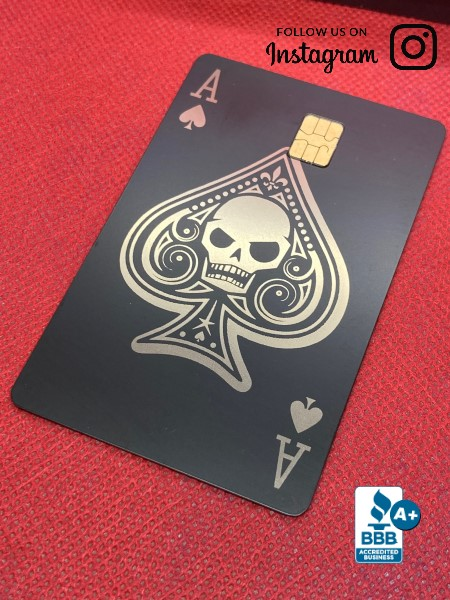 Ace of Spades (Skull) Design (matte black)