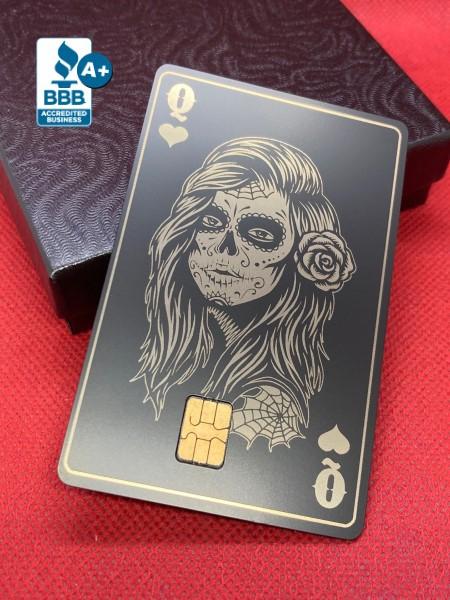 Queen of Hearts Design (matte-black)